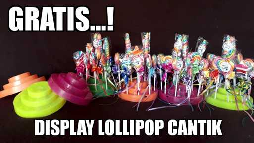 display permen lolipop okeliebe